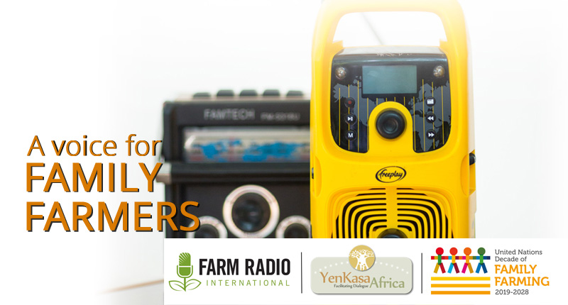 Voice for Family Farmers radio campaign materials